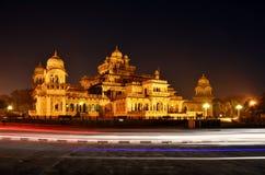Albert Hall (centralt museum) i Jaipur, Rajasthan, Indien fotografering för bildbyråer