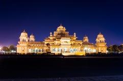 Albert Hall Jaipur på natten arkivfoto