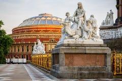 Albert Hall, Kensington Londra al tramonto fotografia stock