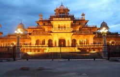Albert Hall Museum. Albert Hall Museum At Night,(Jaipur stock photo