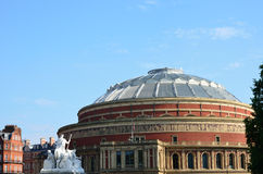 Albert hall viewed from memorial Royalty Free Stock Images