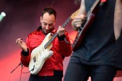 Albert Hammond Jr (musiker och gitarrist av den indie rockbandet slaglängderna) royaltyfria bilder