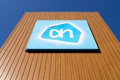 Free Albert Heijn Sign At Branch Royalty Free Stock Images - 120797909