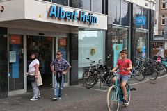 Albert Heijn Supermarket Images stock