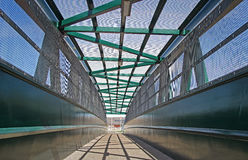 Albert hugo friday bridge. Photo of blacksole albert hugo friday pedestrian bridge viaduct railway crossing in herne bay kent Stock Photo