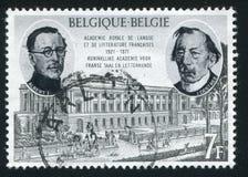 Albert I Jules Destree och akademi Royaltyfri Bild