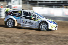 Albert Llovera Barcelona FIA World Rallycross Royaltyfri Fotografi