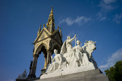 Albert Memorial. Located in Kensington Gardens, London.  The sculpture depicts the Europe Group Royalty Free Stock Images