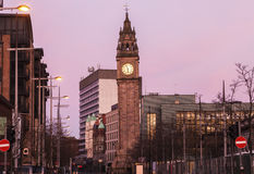 Albert Memorial Clock in Belfast stock afbeeldingen