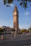 Albert Memorial Clock i Belfast som är nordlig - Irland Arkivbild