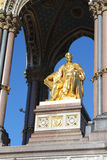 Albert Memorial (Close Up). A close up of the Albert Memorial showing Albert in gold, in Kensington Gardens, London Stock Image