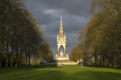 The Albert Memorial Hyde Park London. View of the Albert Memorial Hyde Park London in spring time Stock Photography