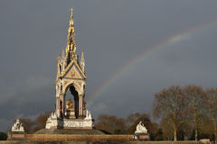 Albert Memorial Kensington Gardens London rainbow Royalty Free Stock Photography