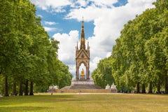 Albert Memorial in Kensington-Tuinen, Stock Afbeelding