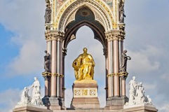 Albert Memorial in Londen, Engeland Royalty-vrije Stock Fotografie