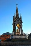 Albert Memorial, Londen, Engeland, het UK, bij schemer Stock Afbeelding