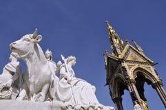 Albert Memorial, Londen met standbeeld Royalty-vrije Stock Foto's