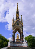Albert Memorial in London. The Albert Memorial is situated in Kensington Gardens in London.It was built in honour of Prince Albert by his wife Queen Victoria Royalty Free Stock Images