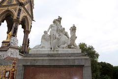 Albert Memorial, London. Allegorical sculptures Africa group by William Theed. Royalty Free Stock Photography