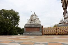 Albert Memorial, London. Allegorical sculptures Europe group by Patrick MacDowell. Royalty Free Stock Photography