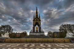 Albert Memorial, London from Rear Stock Images