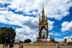 Albert Memorial in London situated in Kensington Gardens Royalty Free Stock Photo