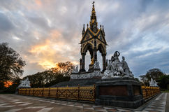 Albert Memorial, London at Sunset Stock Photo