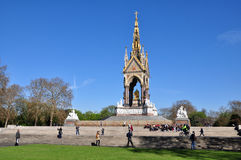 The Albert Memorial, London, UK. The Albert Memorial is situated in Kensington Garden, London, England. It was commissioned by Queen Victoria in memory of her Royalty Free Stock Images