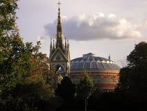 Albert memorial and royal albert hall Royalty Free Stock Photo