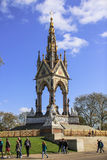 The Albert Memorial side view from distant Stock Image