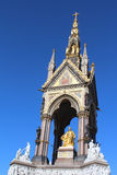 Albert Memorial (Top). The Albert Memorial showing Albert in gold, in Kensington Gardens, London Stock Photo