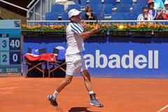 Albert Montanes sztuki przy ATP Barcelona Otwierają (Hiszpański gracz w tenisa) Fotografia Stock