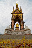 Albert monument in l   ondon england kingdome and old construction Royalty Free Stock Images