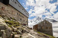 Albert Najważniejsza buda w Francuskich Alps Zdjęcia Stock