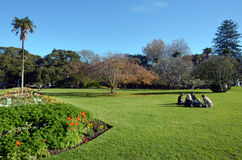 Albert park in Auckland New Zealand. Royalty Free Stock Photos