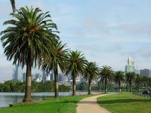 Albert Park in Melbourne stock afbeeldingen