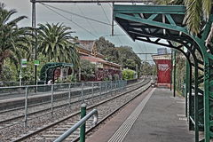 Albert Park Station Melbourne HDR Royalty-vrije Stock Foto