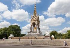 Albert pomnik, Hyde park, Londyn Obraz Royalty Free