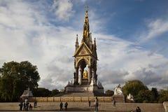 Albert pomnik przy Londyn, Anglia Zdjęcia Stock
