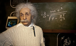 albert postać Einstein wosk obraz royalty free