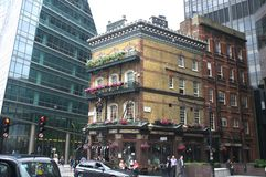 Albert Pub in Londen stock foto
