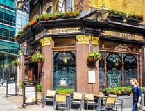 Albert pub w Londyn, hdr Fotografia Stock