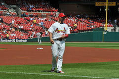 Albert Pujols at Busch Stadium. In Saint Louis Royalty Free Stock Images