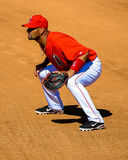 #5 Albert Pujols in game action at today's game. Royalty Free Stock Photos