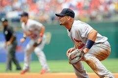 Albert Pujols - St. Louis Cardinals - defense Royalty Free Stock Photography