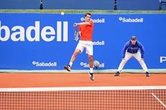 Albert Ramos Vinolas (jugador de tenis español) juega en el ATP Barcelona Imagen de archivo libre de regalías
