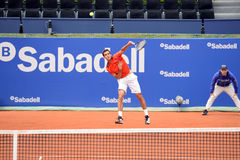 Albert Ramos Vinolas (Spanish tennis player) plays at the ATP Barcelona Royalty Free Stock Image