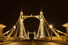 Albert's bridge  at night London United Kingdom uk Stock Image