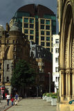 Albert Square Manchester, England 20/07/2008 ledare Royaltyfria Foton