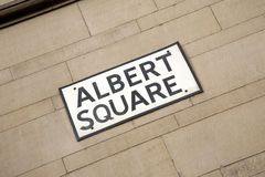 Albert Square Street Sign, Manchester Royalty Free Stock Image